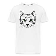 T-Shirts ~ Men's Premium T-Shirt ~ Cute Cat Face