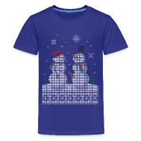 UGLY HOLIDAY SWEATER HAPPY SNOWMAN CARROT THIEF