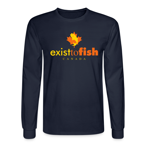 Exist To Fish Premium Men's Long Sleeve Shirt