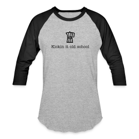 """Kickin it Old School"" Baseball T"
