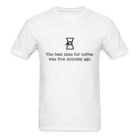 "Chemex ""Best Time For Coffee"" Classic T"