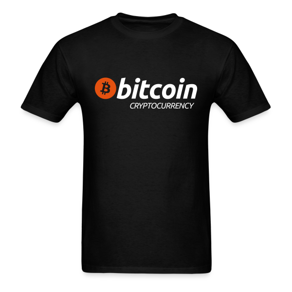 Bitcoin Cryptocurrency Black T Shirt