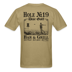Hole 19 Disc Golf Bar & Grill - Black Print - Men's Shirt