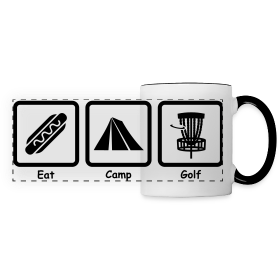 Adult Eat, Camp, Disc Golf Mug - Edit to Choose Color Print & Mug!