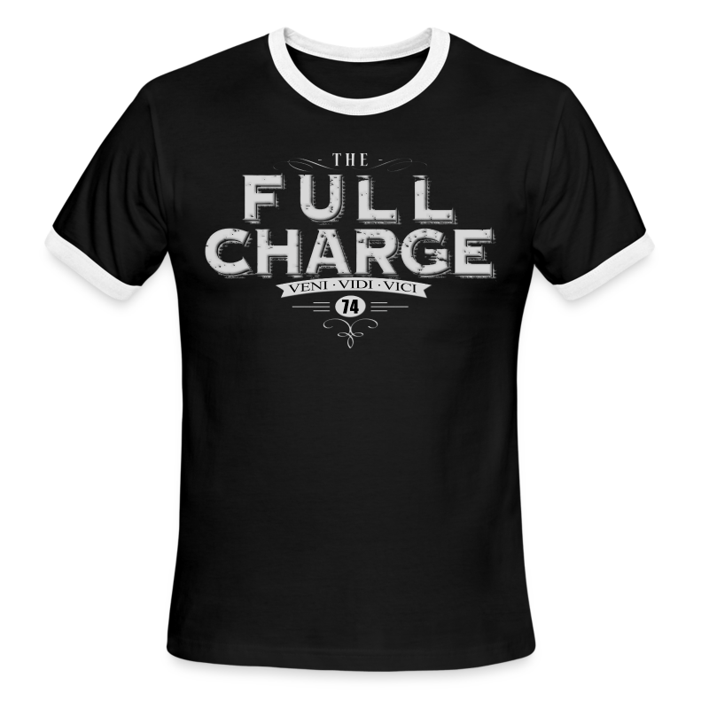 Full Charge Veni Vidi Vici Mens Ringer Tee - Men's Ringer T-Shirt