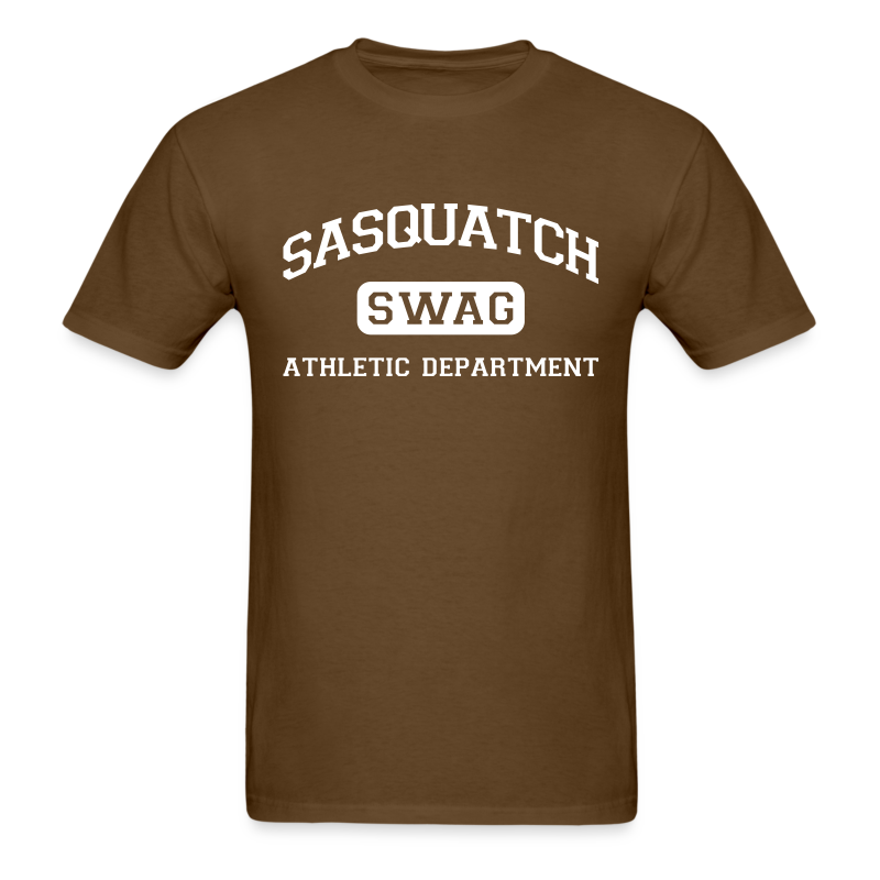 Sasquatch Swag Athletic Department II - Men's Shirt - White Print