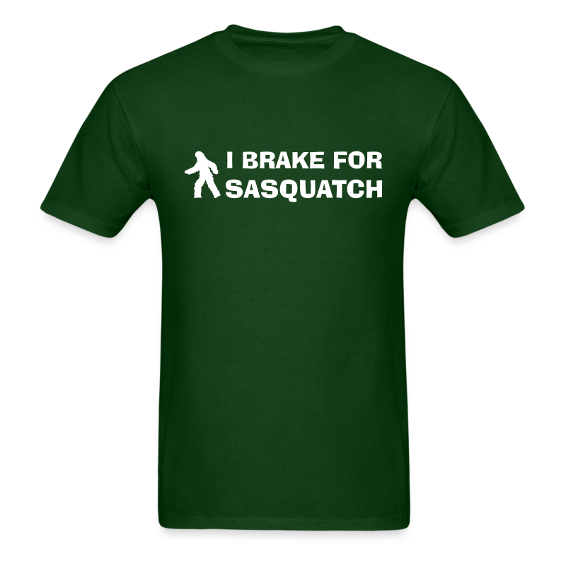 I Brake for Sasquatch - Men's Shirt - White Print