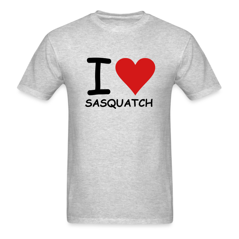 I Love Sasquatch - Men's - White Print