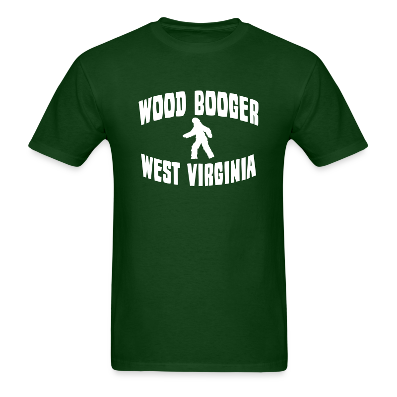 Wood Booger West Virginia Bigfoot  - Men's Shirt - White Print