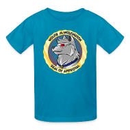 Kids' Shirts ~ Kids' T-Shirt ~ Wolfie McWolfington Seal of Approval Kid's Sizes