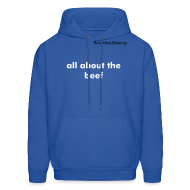 Hoodies ~ Men's Hooded Sweatshirt ~ All about the beef