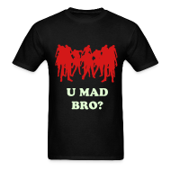 T-Shirts ~ Men's Standard Weight T-Shirt ~ Mens Zombies U Mad?