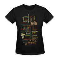 Women's T-Shirts ~ Women's Standard Weight T-Shirt ~ Word Mosaic