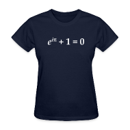 Women's T-Shirts ~ Women's Standard Weight T-Shirt ~ YellowIbis.com 'Mathematics Physics' Women's Standard T-Shirt: Euler's Identity (Color choice)