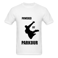 T-Shirts ~ Men's T-Shirt ~ POWERED BY PAKOUR MEN'S T-SHIRT
