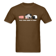 T-Shirts ~ Men's Standard Weight T-Shirt ~ Men's Pigs, Cows, Sheep 'n' Stuff T-Shirt