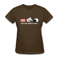 Women's T-Shirts ~ Women's Standard Weight T-Shirt ~ Women's Pigs, Cows, Sheep 'n' Stuff T-Shirt