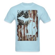 T-Shirts ~ Men's T-Shirt ~ Michigan - USA Flag