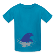 Kids' Shirts ~ Kids' T-Shirt ~ Dolphin Splash w Clifford on sleeve