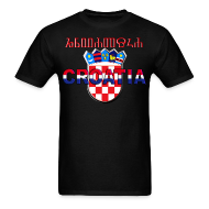 T-Shirts ~ Men's T-Shirt ~ Shirt Croatia Hrvatska 3 color logo Sahovnica