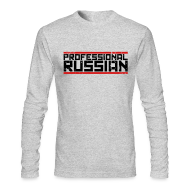 Long Sleeve Shirts ~ Men's Long Sleeve T-Shirt by American Apparel ~ Long Sleeve Tee : Pro Russian
