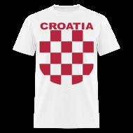 T-Shirts ~ Men's T-Shirt ~ Croatia Hrvatska the real Sahovnica Shirt
