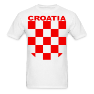 T-Shirts ~ Men's Standard Weight T-Shirt ~ Croatia Hrvatska Sahovnica Shirt