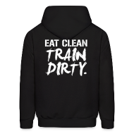 Hoodies ~ Men's Hooded Sweatshirt ~ (Back Print) Train dirty mens hoodie