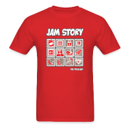 T-Shirts ~ Men's Standard Weight T-Shirt ~ Mens Tee: Jam Story