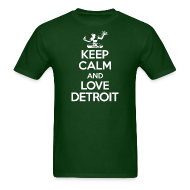 T-Shirts ~ Men's Standard Weight T-Shirt ~ Keep Calm And Love Detroit