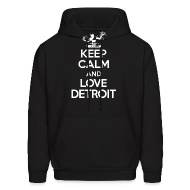 Hoodies ~ Men's Hooded Sweatshirt ~ Keep Calm And Love Detroit