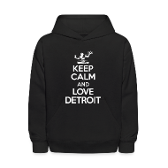 Sweatshirts ~ Kids' Hooded Sweatshirt ~ Keep Calm And Love Detroit