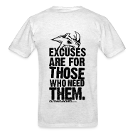 T-Shirts ~ Men's Standard Weight T-Shirt ~ Excuses are for those | Mens Tee (back print)