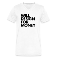 T-Shirts ~ Men's V-Neck T-Shirt by Canvas ~ WILL DESIGN FOR MONEY