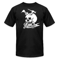 T-Shirts ~ Men's T-Shirt by American Apparel ~ Kustomrama Skull Black
