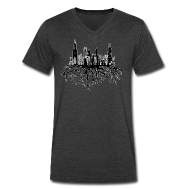 T-Shirts ~ Men's V-Neck T-Shirt by Canvas ~ Chicago Skyline Roots