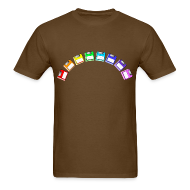 T-Shirts ~ Men's Standard Weight T-Shirt ~ Men's Floppy Rainbow