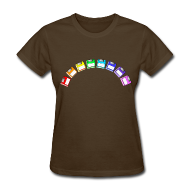 Women's T-Shirts ~ Women's Standard Weight T-Shirt ~ Women's Floppy Rainbow