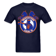 T-Shirts ~ Men's Standard Weight T-Shirt ~ Meatcutters Local 18 - Navy - Mens