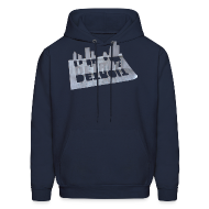 Hoodies ~ Men's Hooded Sweatshirt ~ Detroit Loose Leaf