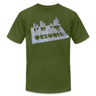 T-Shirts ~ Men's T-Shirt by American Apparel ~ Detroit Loose Leaf
