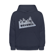 Sweatshirts ~ Kids' Hooded Sweatshirt ~ Detroit Loose Leaf