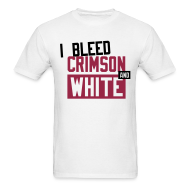 T-Shirts ~ Men's Standard Weight T-Shirt ~  I Bleed Crimson And White
