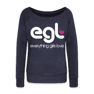 Long Sleeve Shirts ~ Womens Wideneck Sweatshirt ~ Women's EGL Wideneck Sweatshirt