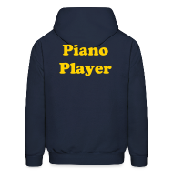 Hoodies ~ Men's Hooded Sweatshirt ~ Piano Player Hoodie w/o zipper
