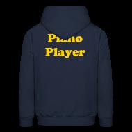 Hoodies ~ Men's Hooded Sweatshirt ~ Piano Player Hoodie w/o zipper