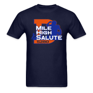 T-Shirts ~ Men's Standard Weight T-Shirt ~ Mile High Salute - Mens
