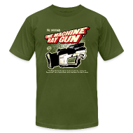 T-Shirts ~ Men's T-Shirt by American Apparel ~ Time Machine Ray Gun AA