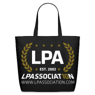 Bags & backpacks ~ Eco-Friendly Cotton Tote ~ LPA 10th Anniversary Tote Bag (Black)