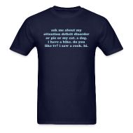 T-Shirts ~ Men's T-Shirt ~ Ask me about my ADD - Powder blue on various colors